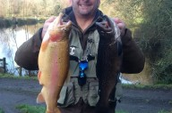 Dave Minal with a gorgeous Golden trout and a terrific Tiger.
