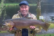 Adrian Kruger with a monster 10lb Brown trout.