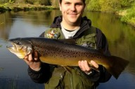 John Connabear from Paignton with his brown trout