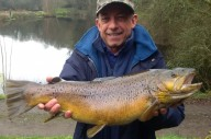Paul Voison from Dousland with his 9lbs-11oz brown trout.