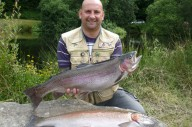 Dave Minnall from Torpoint with his brace of double figure rainbows